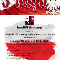 Obchody 3 Maja w Mississaudze KPK zaprasza
